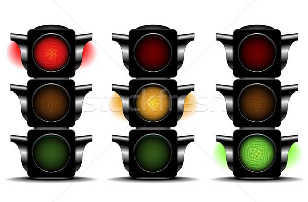 Feux de circulation détaillée illustration différent route ville Photo stock © unkreatives