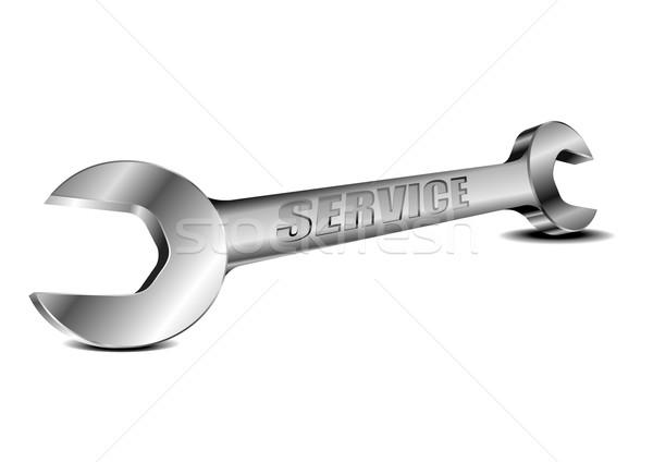 стали гаечный ключ службе подробный иллюстрация перспективы Сток-фото © unkreatives