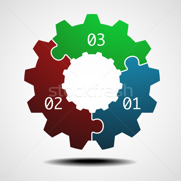 cogwheel infographic template Stock photo © unkreatives