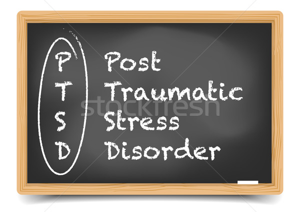 Blackboard PTSD Stock photo © unkreatives