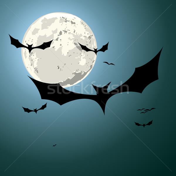 bats halloween background Stock photo © unkreatives