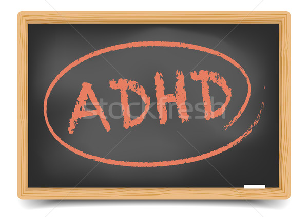 Blackboard ADHD Stock photo © unkreatives