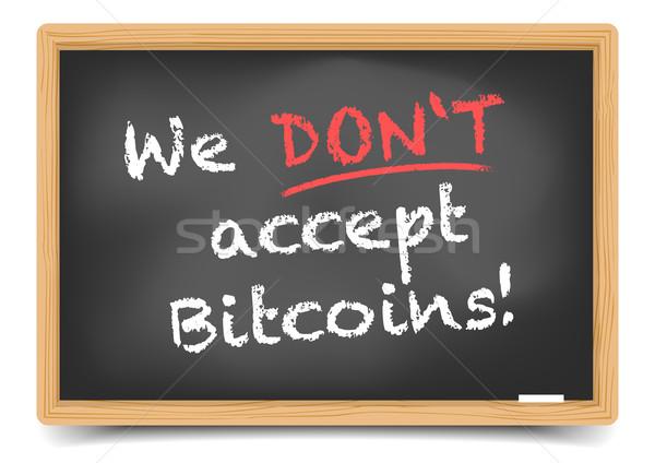 Blackboard Bitcoin  Stock photo © unkreatives