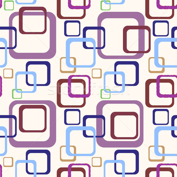 70s pattern dettagliato illustrazione abstract colorato Foto d'archivio © unkreatives