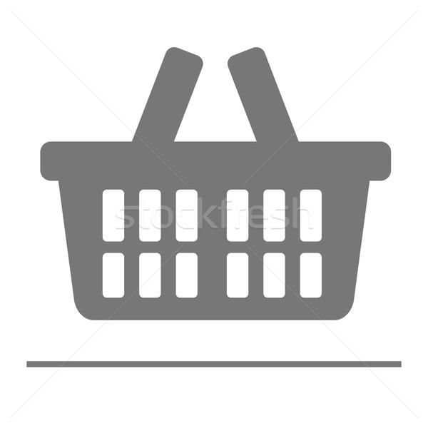 Bevásárlókosár ikon minimalista illusztráció eps10 vektor Stock fotó © unkreatives