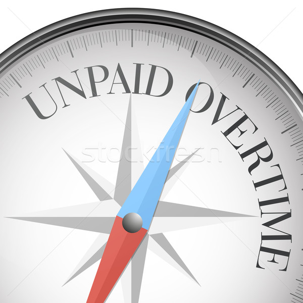 compass Unpaid Overtime Stock photo © unkreatives
