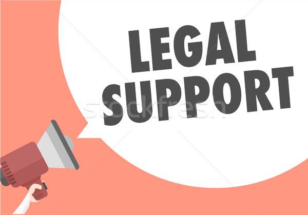 правовой поддержки иллюстрация мегафон Сток-фото © unkreatives