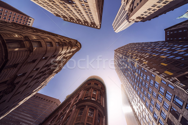 Highrise Buildings in the sun Stock photo © unkreatives
