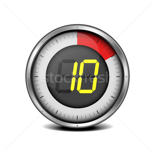 timer digital 10 Stock photo © unkreatives