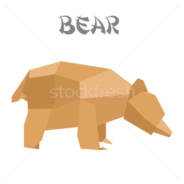 origami bear Stock photo © unkreatives
