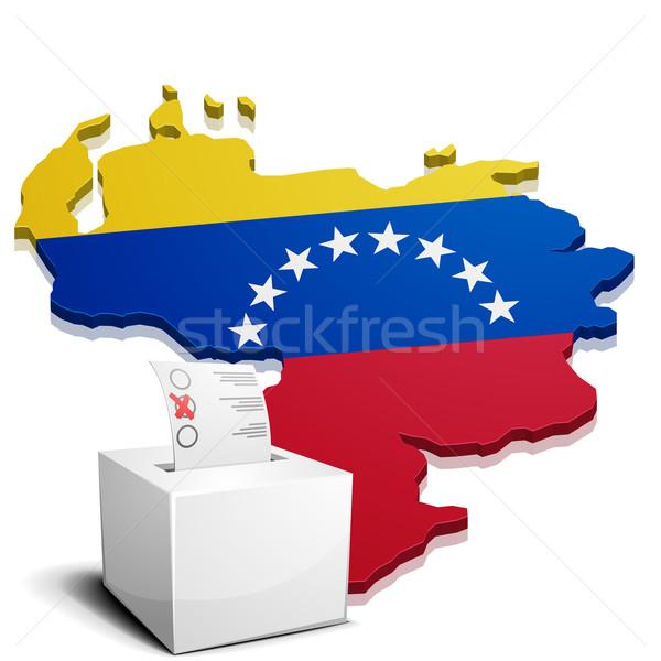 Venezuela részletes illusztráció térkép eps10 vektor Stock fotó © unkreatives