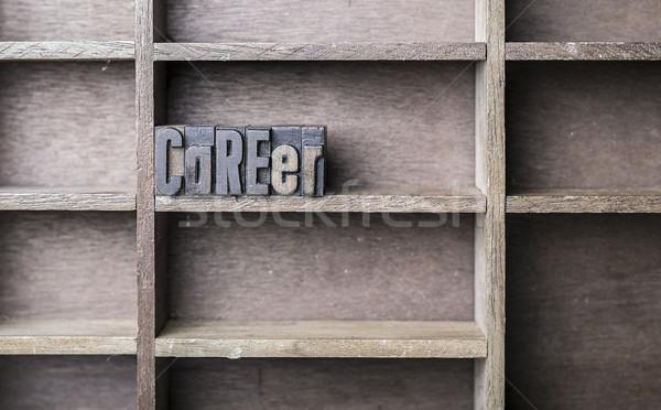 Wooden Letter Career Stock photo © unkreatives