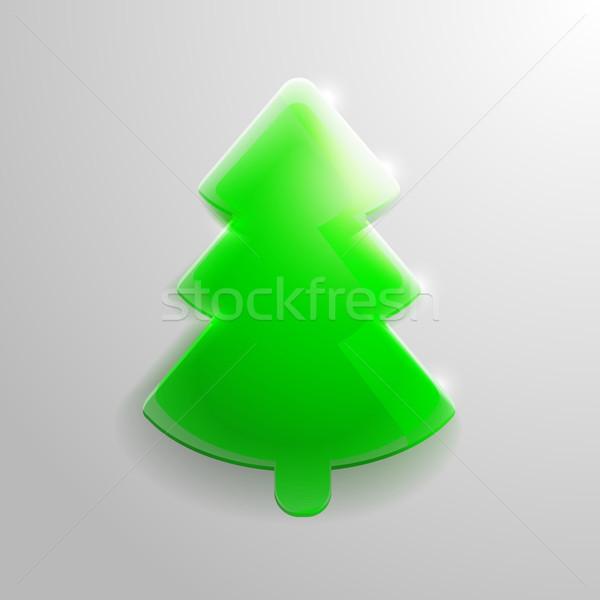 christmas_glass_tree Stock photo © unkreatives
