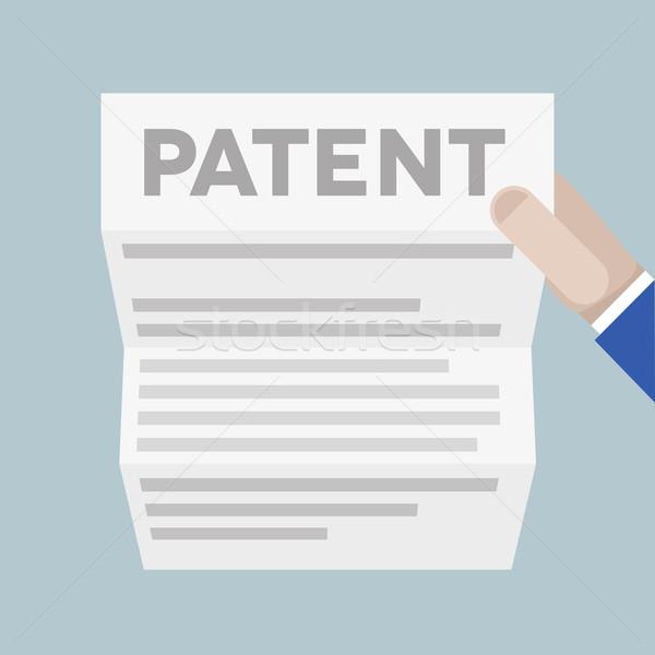 Arkusza patent szczegółowy ilustracja strony Zdjęcia stock © unkreatives