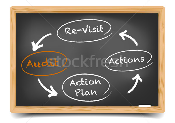 Audit Circle Stock photo © unkreatives
