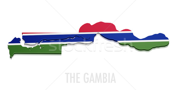 Map The Gambia Stock photo © unkreatives