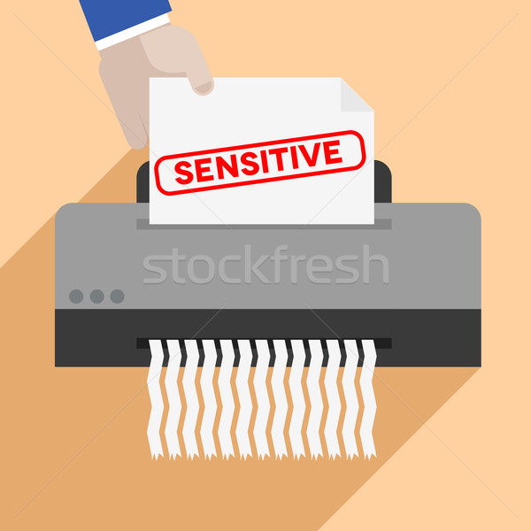 Stock photo: shredding Sensitive Letter