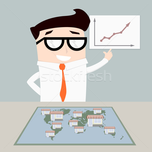 businessman franchise system Stock photo © unkreatives