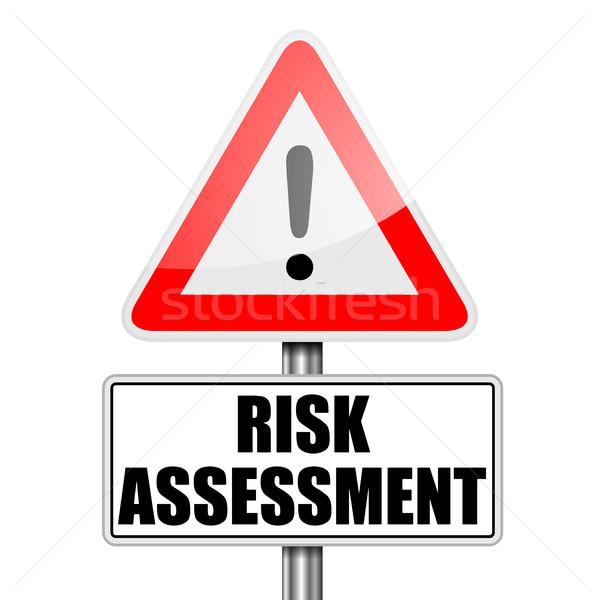 RoadSign Risk Assessment Stock photo © unkreatives