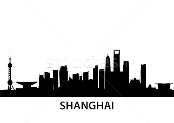подробный иллюстрация Шанхай Китай бизнеса город Сток-фото © unkreatives