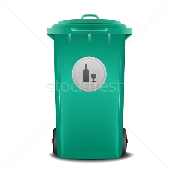 green recycling bin Stock photo © unkreatives