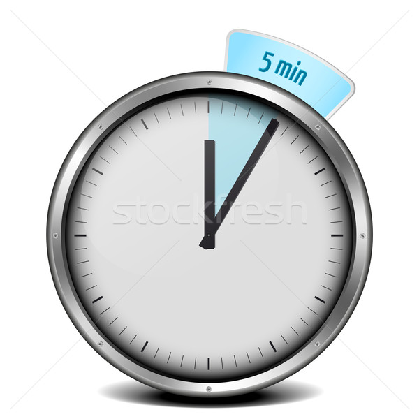 5min timer Stock photo © unkreatives