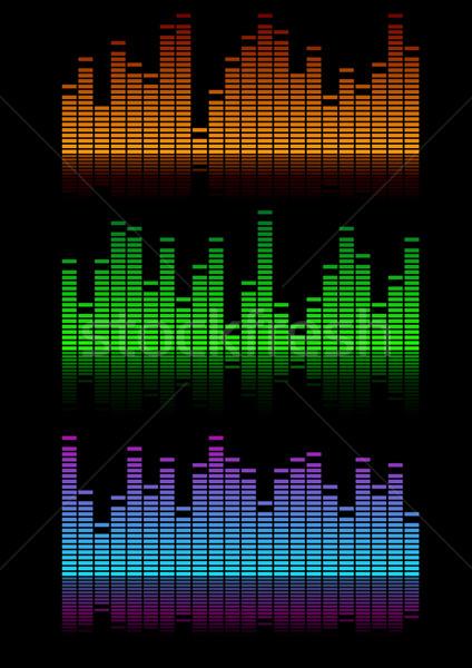 Ecualizador ilustración símbolo música sonido luz Foto stock © unkreatives