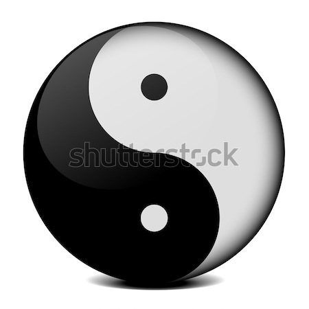 yin yang icon Stock photo © unkreatives