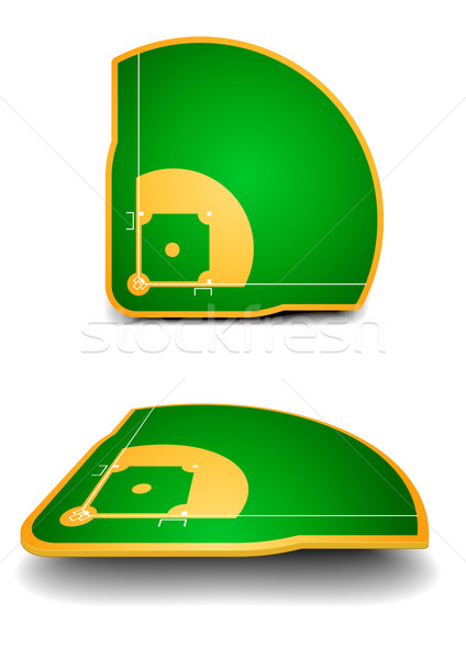 baseball fields with perspective Stock photo © unkreatives