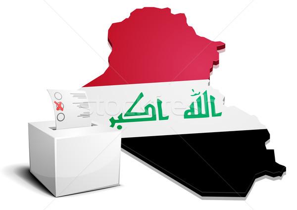 ballotbox Iraq Stock photo © unkreatives