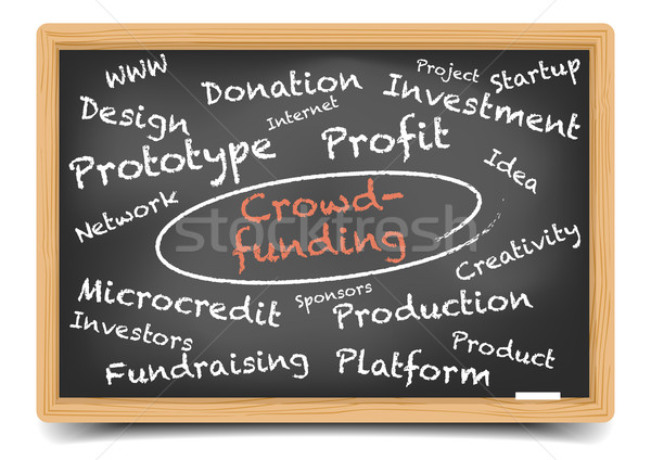 Blackboard Crowdfunding Stock photo © unkreatives