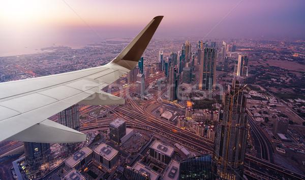 ドバイ 飛行機 翼 フロント ビジネス ストックフォト © unkreatives