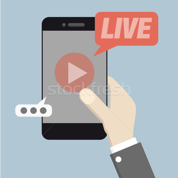 phone Live Streaming Stock photo © unkreatives