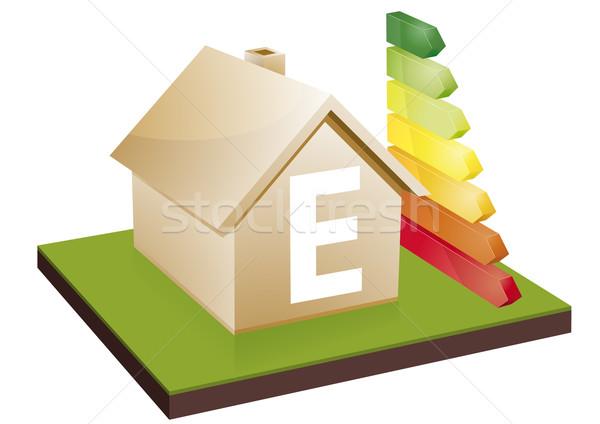 Maison efficacité énergétique classe bars Photo stock © unkreatives