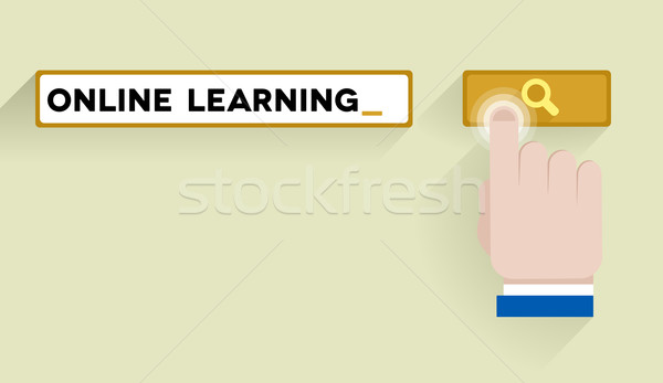 search online learning Stock photo © unkreatives