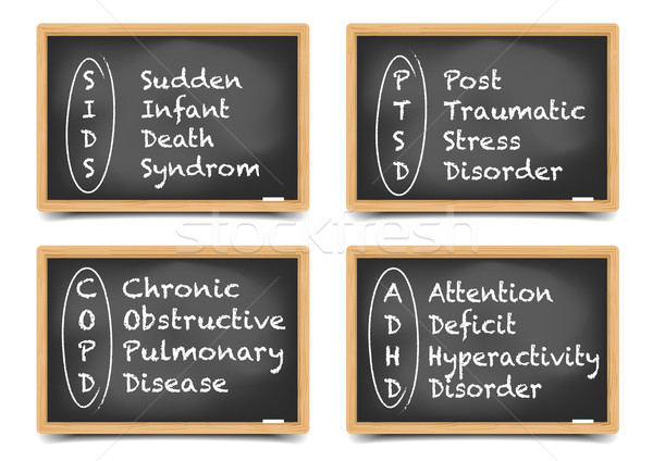 Blackboard Medical Terms Stock photo © unkreatives