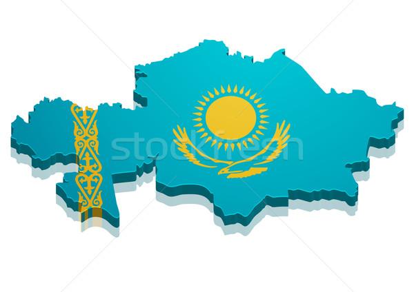 Map Kazakhstan Stock photo © unkreatives