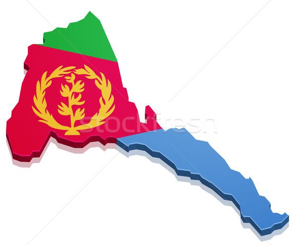 Pokaż Erytrea szczegółowy ilustracja banderą eps10 Zdjęcia stock © unkreatives