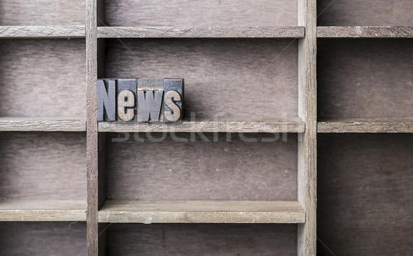 Wooden Letter News Stock photo © unkreatives
