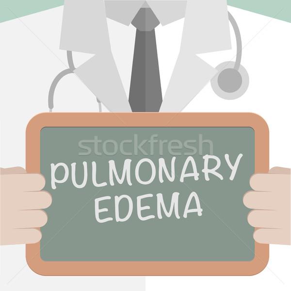 Board Pulmonary Edema Stock photo © unkreatives
