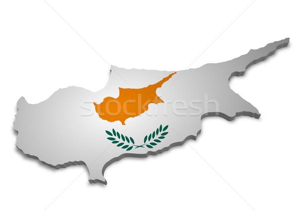 キプロス 3D フラグ 背景 壁紙 ストックフォト © unkreatives