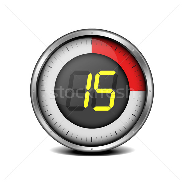timer digital 15 Stock photo © unkreatives