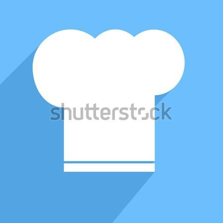 Szakács sapka minimalista illusztráció eps10 vektor étterem Stock fotó © unkreatives