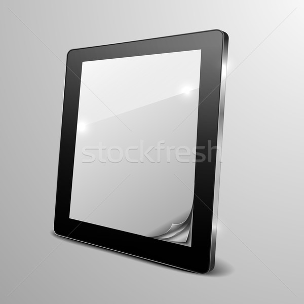 tablet curled paper Stock photo © unkreatives