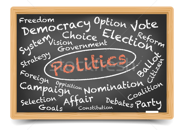 Politics Blackboard Stock photo © unkreatives