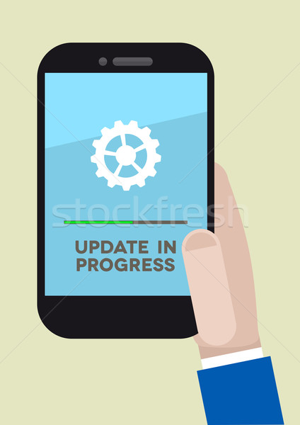 phone update Stock photo © unkreatives
