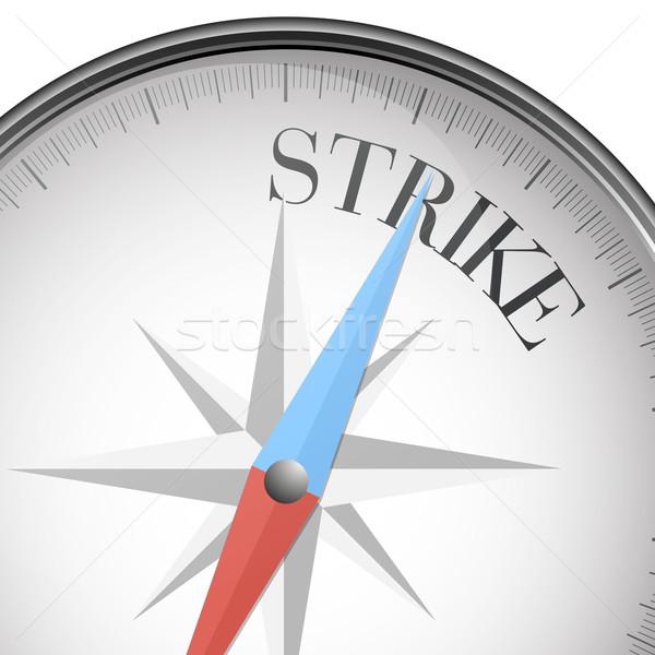 Pusula grev ayrıntılı örnek metin eps10 Stok fotoğraf © unkreatives