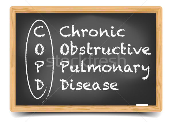 Blackboard COPD Stock photo © unkreatives