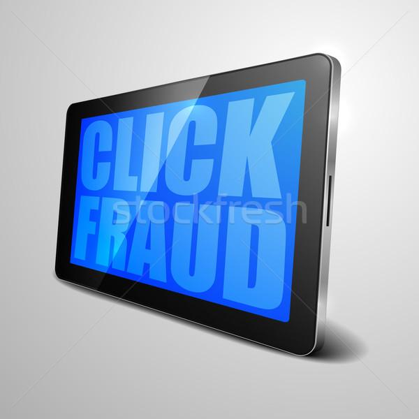 Comprimido clique fraude detalhado ilustração Foto stock © unkreatives