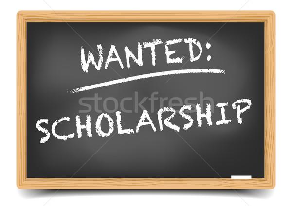 Wanted Scholarship Stock photo © unkreatives
